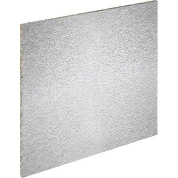 cr dence stratifi aluminium fa on inox magn tique x l 60 cm mm leroy merlin. Black Bedroom Furniture Sets. Home Design Ideas
