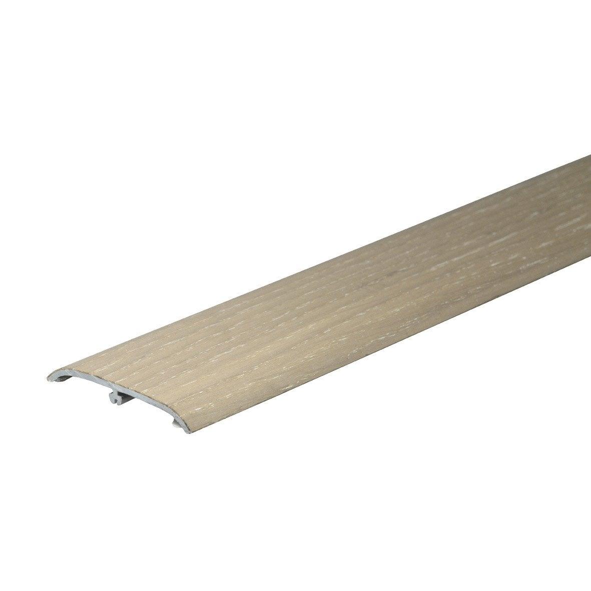 barre de seuil pour parquet plaqu e ch ne blanchi cm x mm leroy merlin. Black Bedroom Furniture Sets. Home Design Ideas