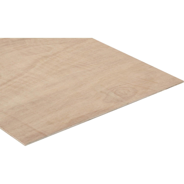 Panneau contreplaqu ordinaire l250 x l122 epais 5mm for Panneau 3 plis leroy merlin