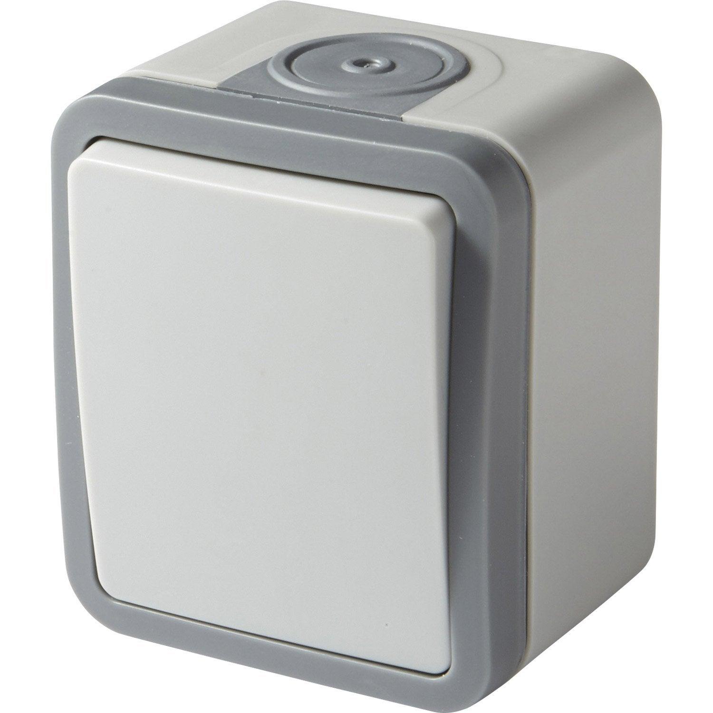 interrupteur va et vient tanche extrem lexman gris. Black Bedroom Furniture Sets. Home Design Ideas
