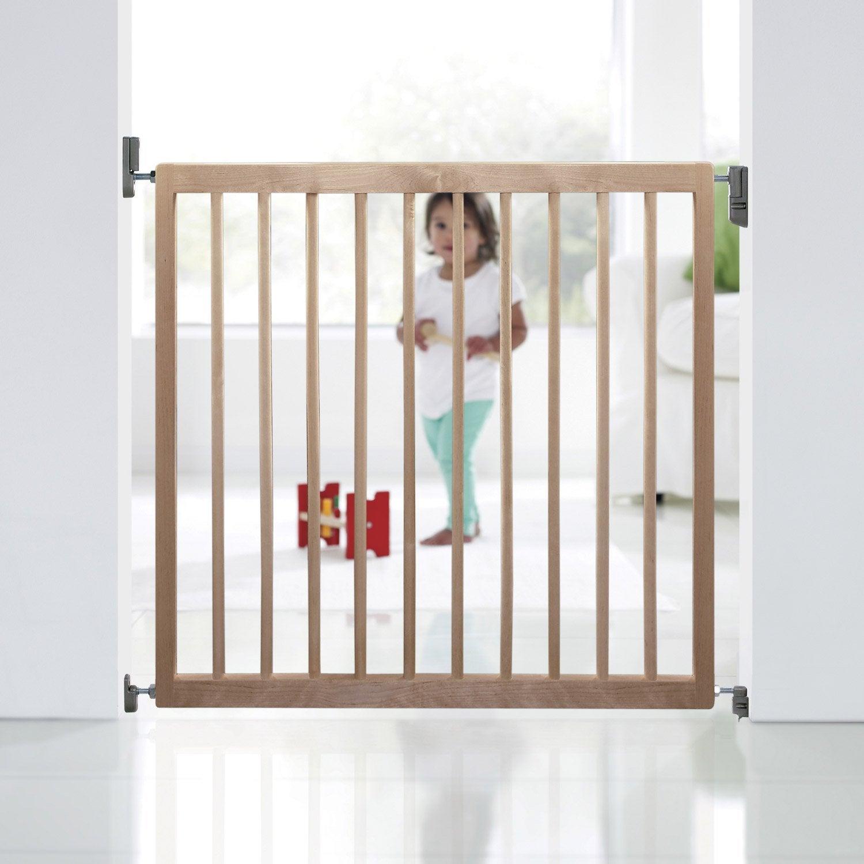 Barri re de s curit enfant munchkin bois cm cm leroy merlin - Barriere escalier leroy merlin ...