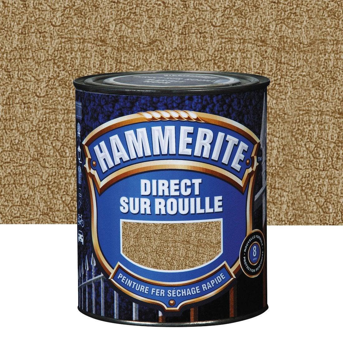 Peinture fer ext rieur hammerite bronze l leroy merlin for Peinture pour fer rouille