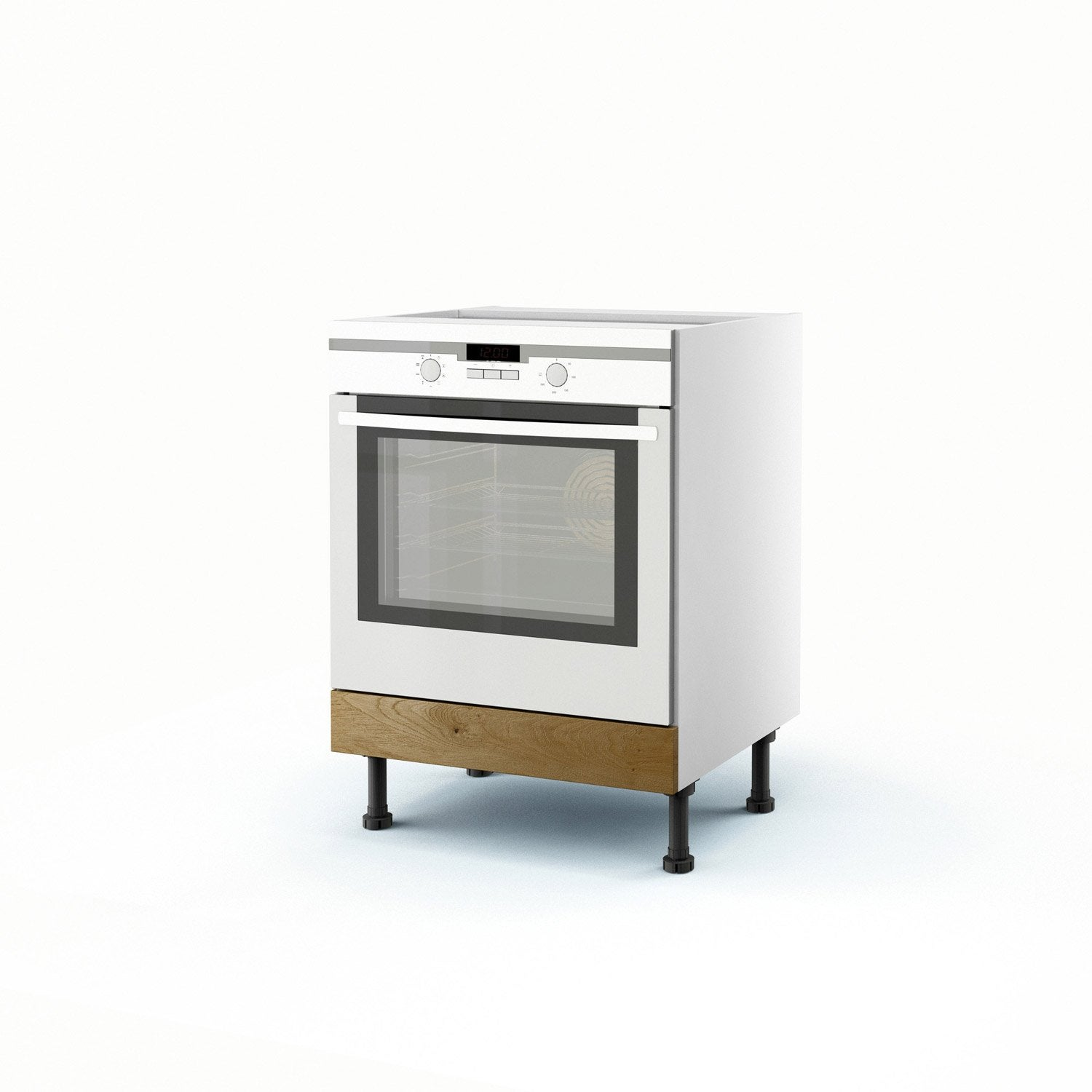 Meuble de cuisine bas ch ne four origine h70xl60xp56 cm leroy merlin - Leroy merlin origine ...