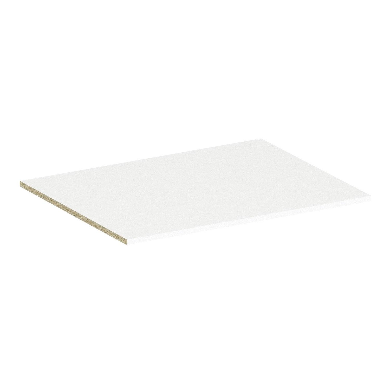 tablette spaceo home 1 6 x 80 x 60 cm blanc leroy merlin. Black Bedroom Furniture Sets. Home Design Ideas