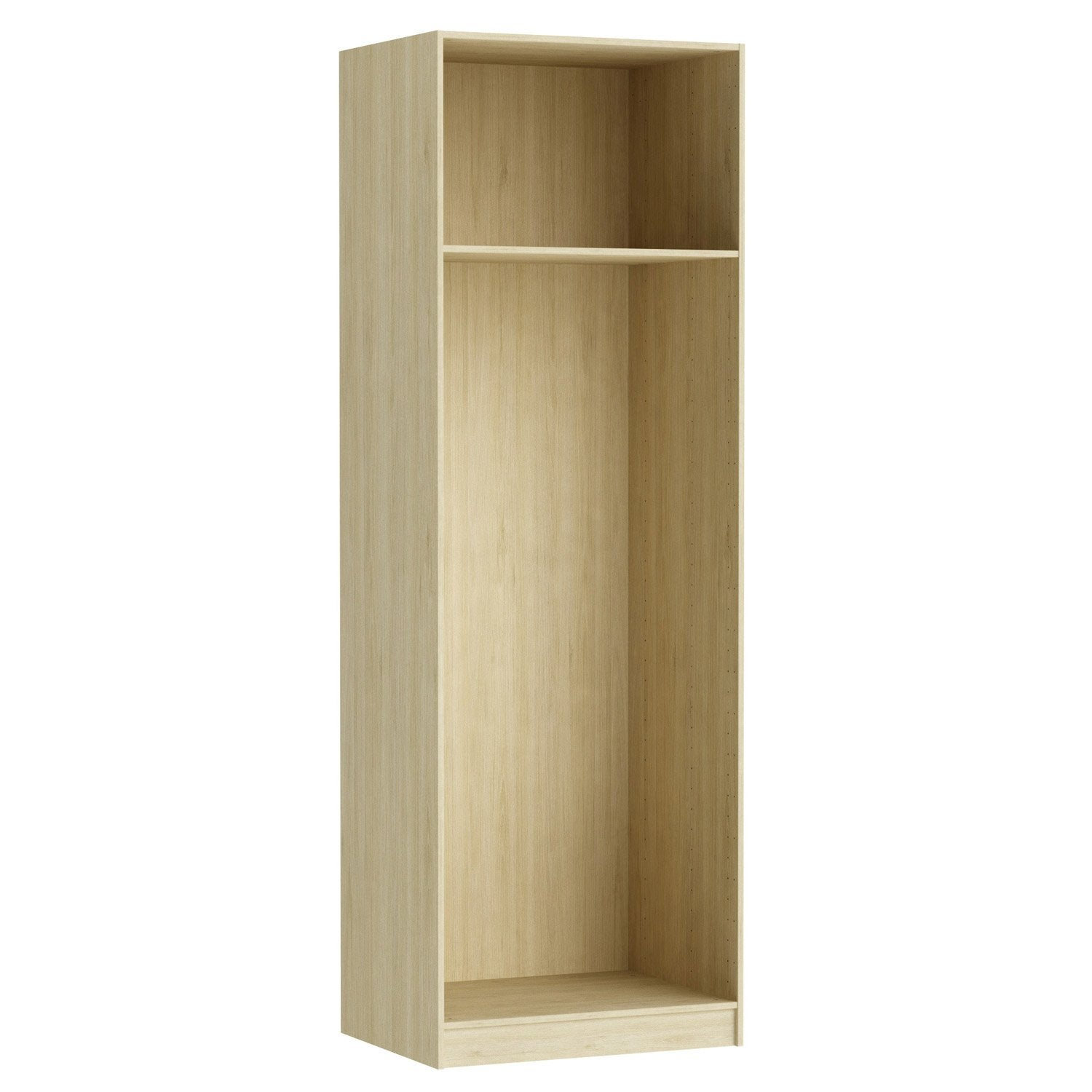 caisson spaceo home 240 x 80 x 60 cm effet ch ne naturel leroy merlin. Black Bedroom Furniture Sets. Home Design Ideas