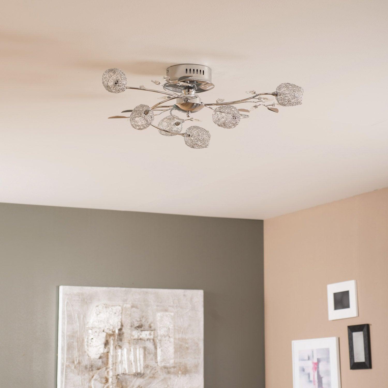 plafonnier adriana seynave chrom leroy merlin. Black Bedroom Furniture Sets. Home Design Ideas