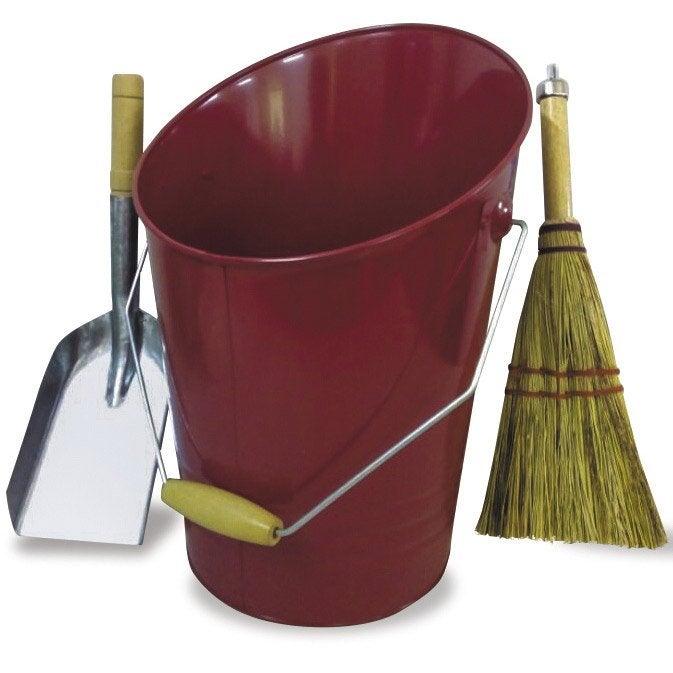 seau cendres acier rouge delta xdivs 4427 2 accessoires leroy merlin. Black Bedroom Furniture Sets. Home Design Ideas