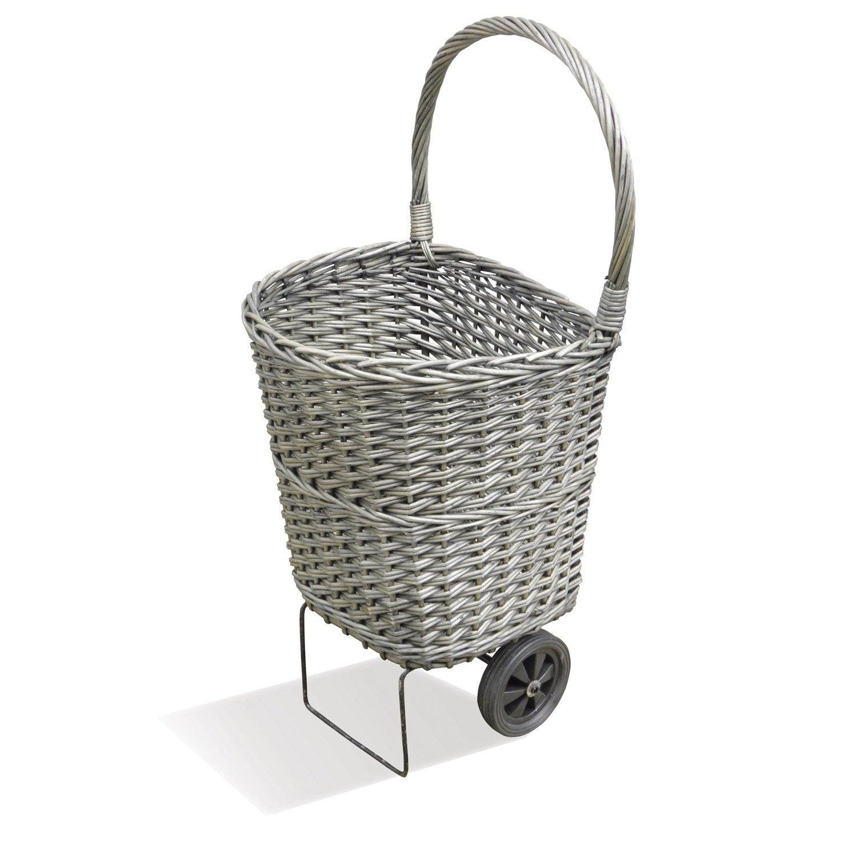 chariot b ches en osier tress delta shopper gris c rus leroy merlin. Black Bedroom Furniture Sets. Home Design Ideas