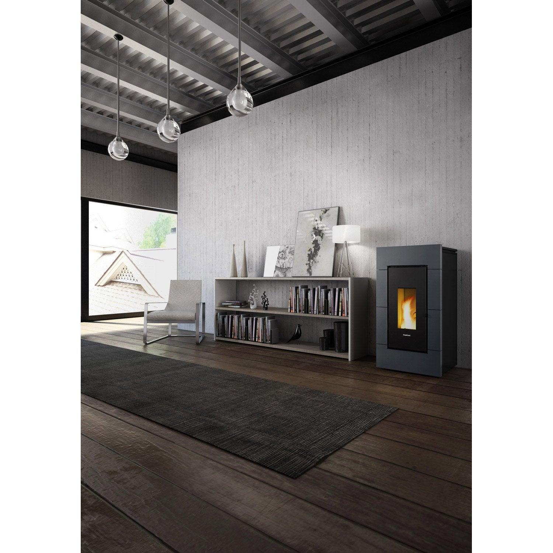 po le granul s freepoint trend anthracite 10 5 kw leroy merlin. Black Bedroom Furniture Sets. Home Design Ideas