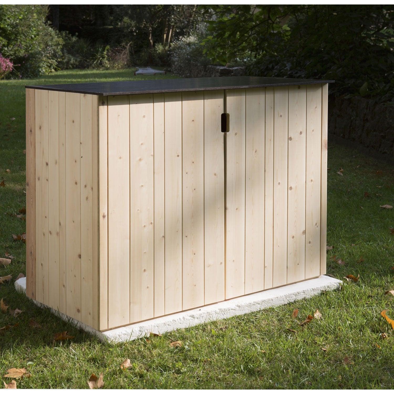 Armoire de jardin bois vertigo naturelle x x p for Armoire d exterieur