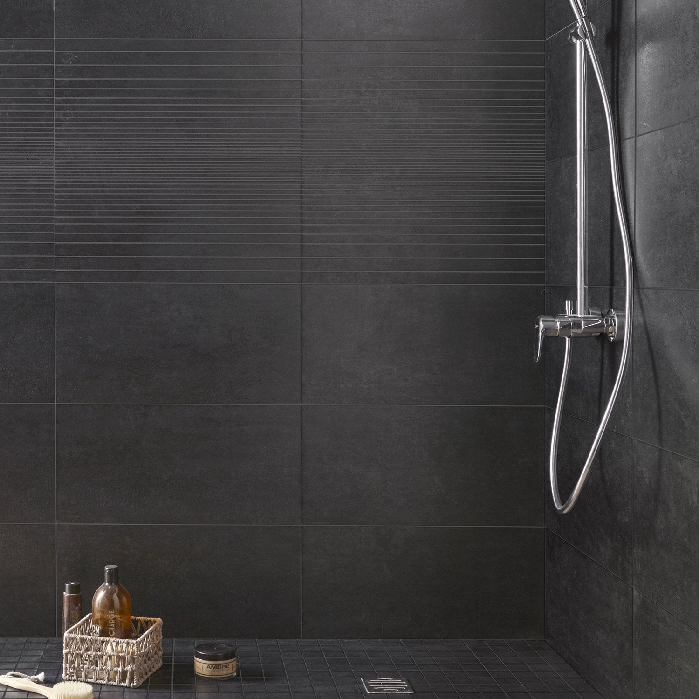 carrelage sol et mur noir tr sor x cm. Black Bedroom Furniture Sets. Home Design Ideas