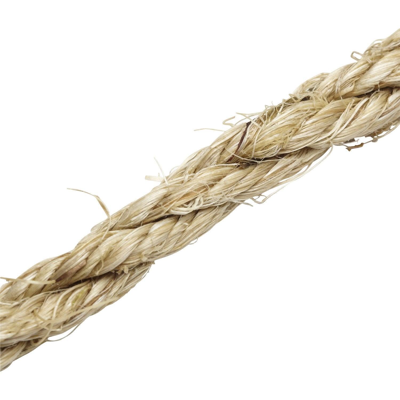 Corde sisal torsad e standers diam 8 mm leroy merlin for Tende corda leroy merlin