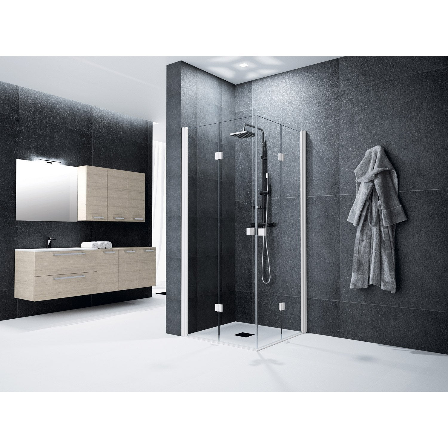 porte douche 100 pas cher avec leroy merlin brico depot. Black Bedroom Furniture Sets. Home Design Ideas