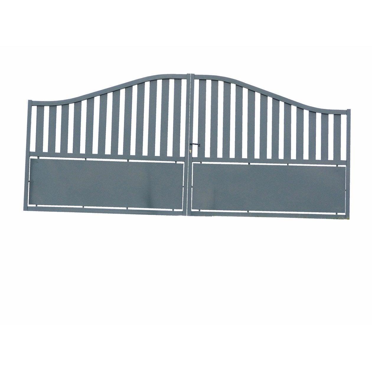 portail battant aluminium millau gris cm x cm. Black Bedroom Furniture Sets. Home Design Ideas