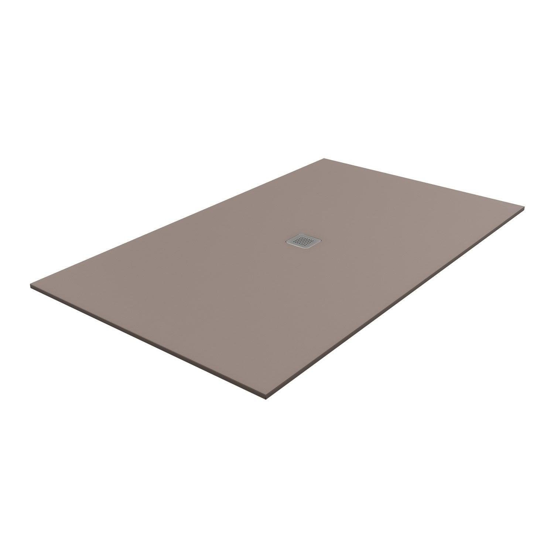 receveur de douche rectangulaire x cm pierre marron kioto2 leroy merlin. Black Bedroom Furniture Sets. Home Design Ideas