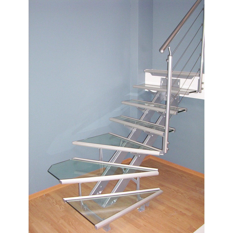 Escalier quart tournant escatwin marches verre - Marche escalier leroy merlin ...