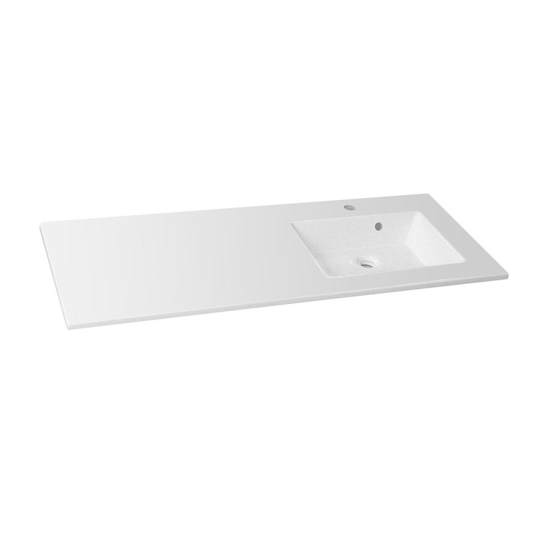 Plan vasque simple modern r sine de synth se 106 cm for Modern droguerie