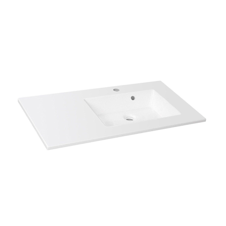 plan simple vasque sensea n o r sine de synth se blanc cm leroy merlin. Black Bedroom Furniture Sets. Home Design Ideas