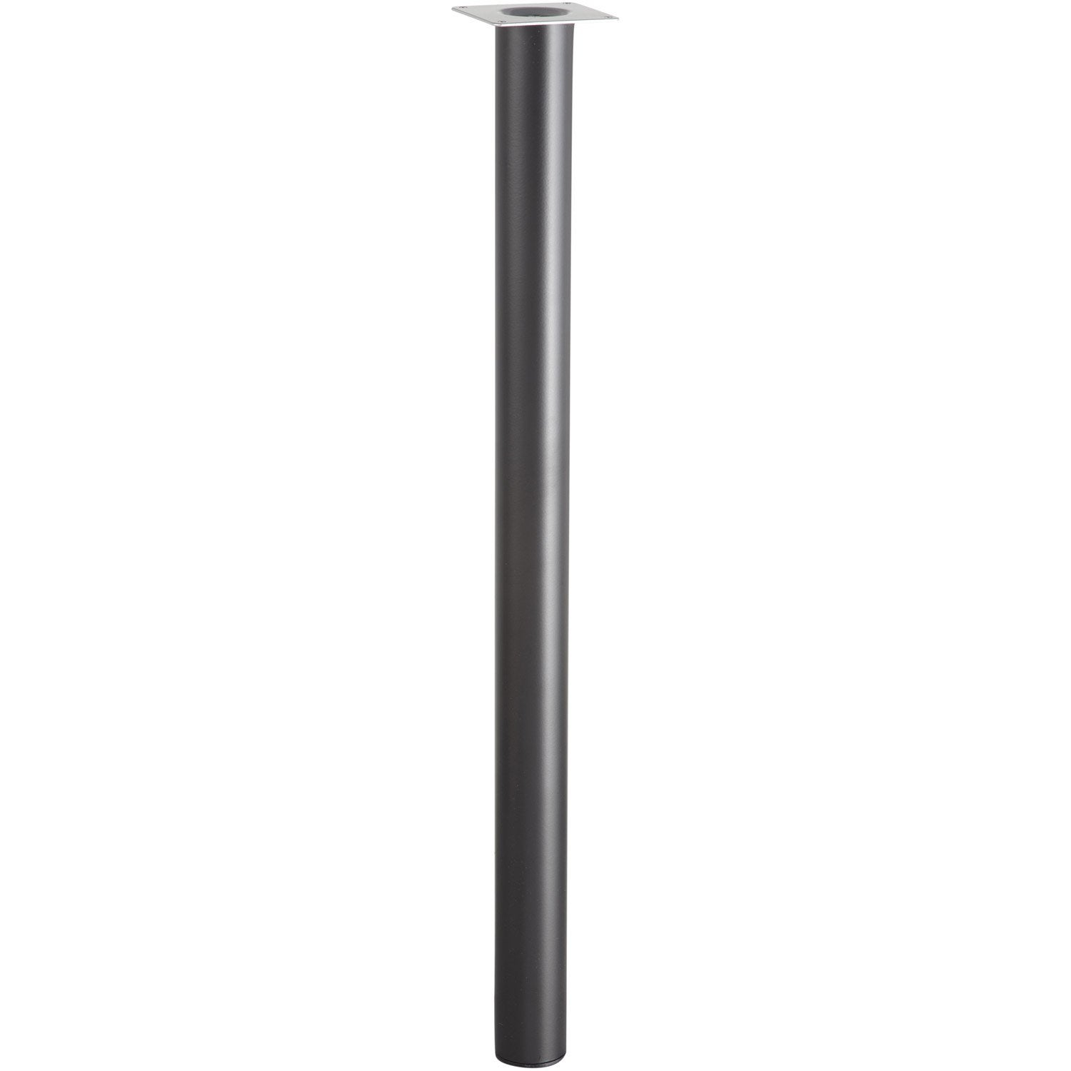 Lot de 4 pieds de table cylindrique fixes m tal epoxy noir - Pied de table de bar ...