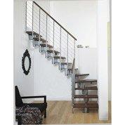 Escalier Long line, modulaire en bois et métal, 12 marches