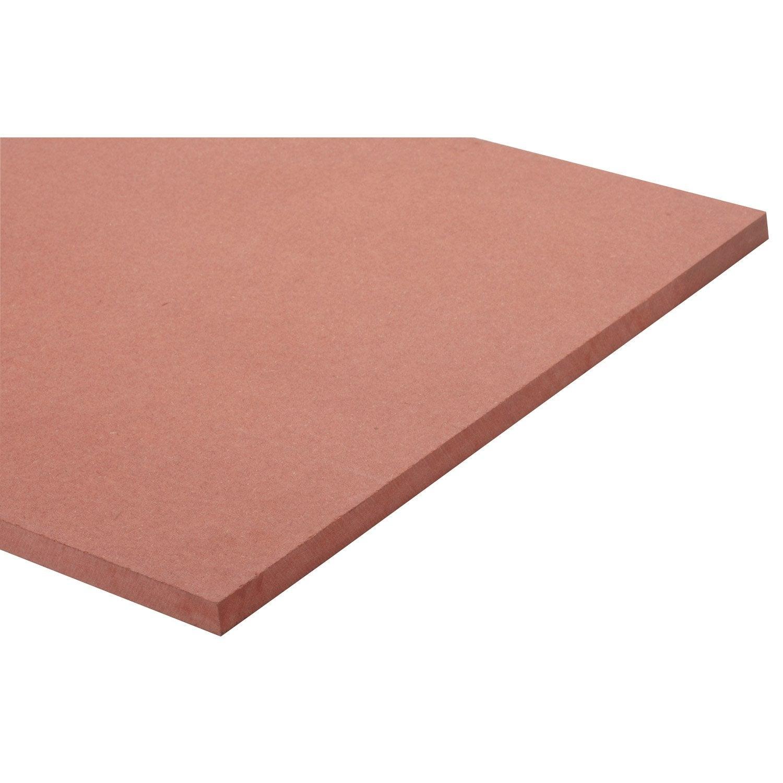 Panneau mdf m dium teint e masse rouge valchromat l250 x l122 epais 19mm - Panneaux mdf leroy merlin ...