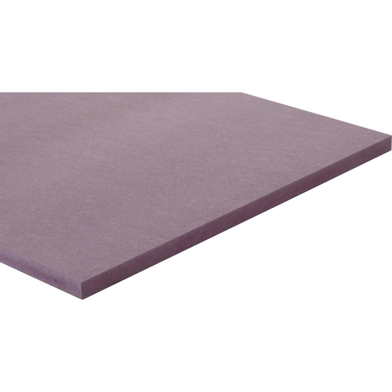 Panneau m dium mdf teint masse violet valchromat l250cm x l122cm p 19m - Panneau mdf leroy merlin ...