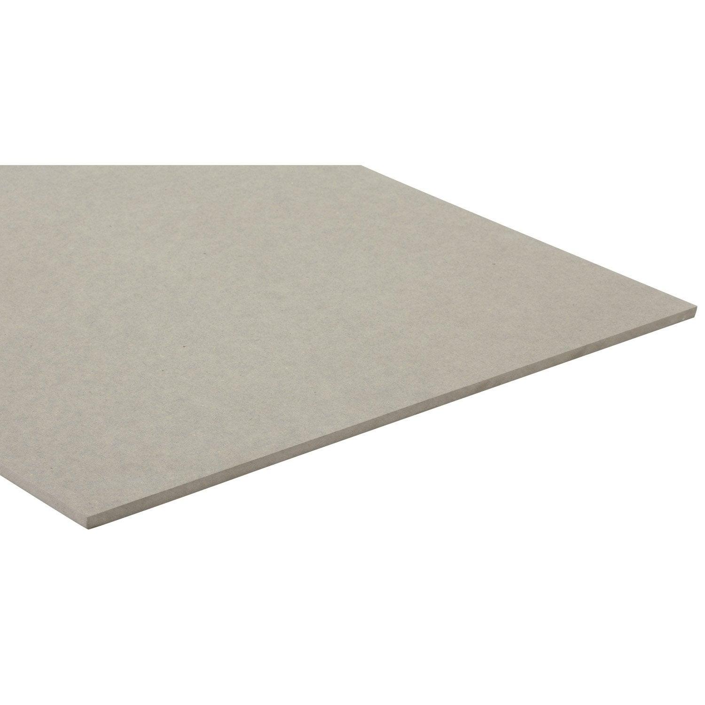 Panneau mdf m dium panneau teint e masse gris clair l250 x l122 - Panneaux mdf leroy merlin ...