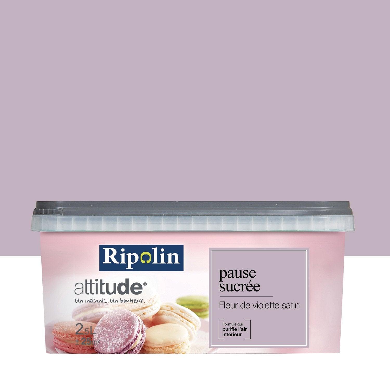 Peinture fleur de violette RIPOLIN Attitude pause sucrée 2.5 l ...