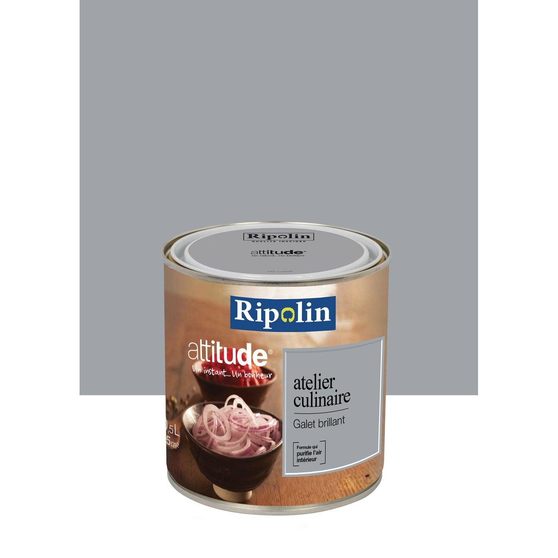 peinture galet ripolin attitude atelier culinaire 0 5 l leroy merlin. Black Bedroom Furniture Sets. Home Design Ideas