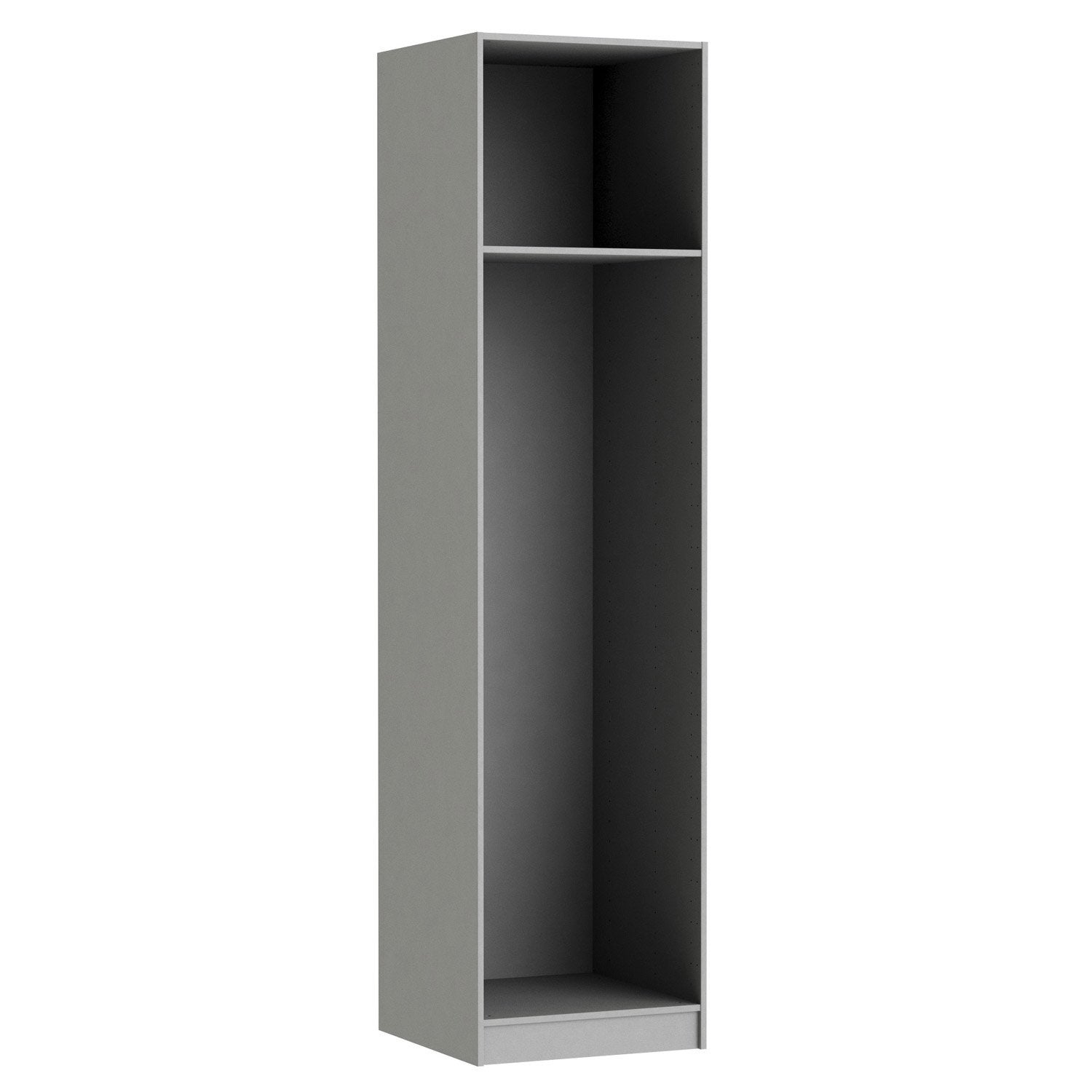 caisson spaceo home 240 x 60 x 60 cm anthracite leroy merlin. Black Bedroom Furniture Sets. Home Design Ideas
