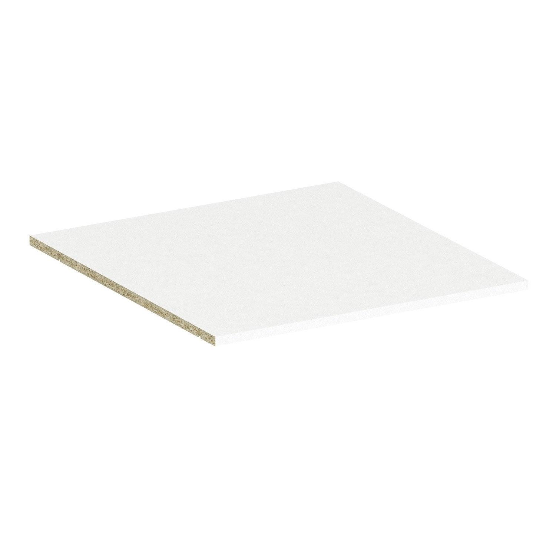 tablette spaceo home 1 6 x 60 x 60 cm blanc leroy merlin. Black Bedroom Furniture Sets. Home Design Ideas