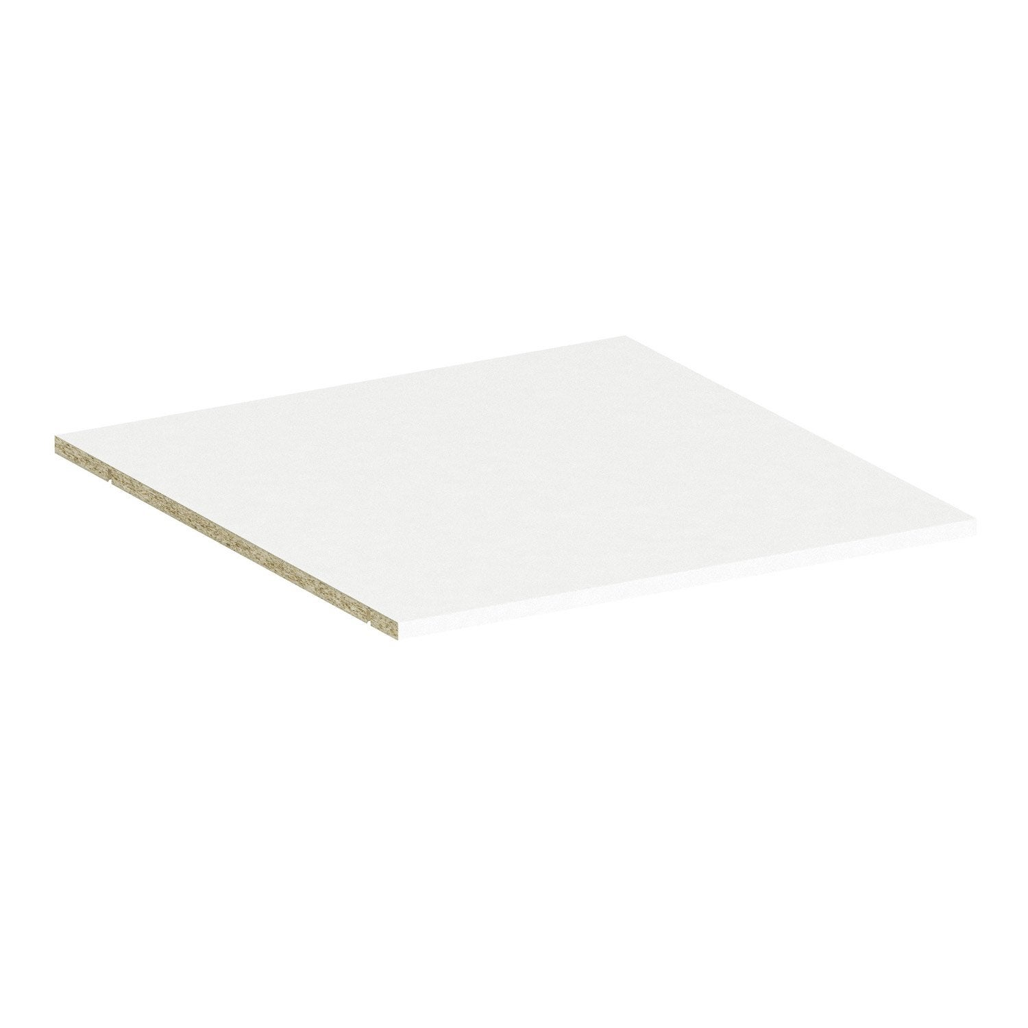 Tablette spaceo home 1 6 x 60 x 60 cm blanc leroy merlin for Tablette spaceo leroy merlin