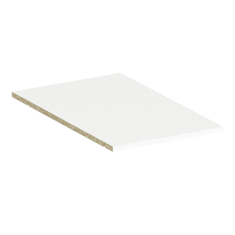 tablette spaceo home 1 6 x 40 x 60 cm blanc leroy merlin. Black Bedroom Furniture Sets. Home Design Ideas