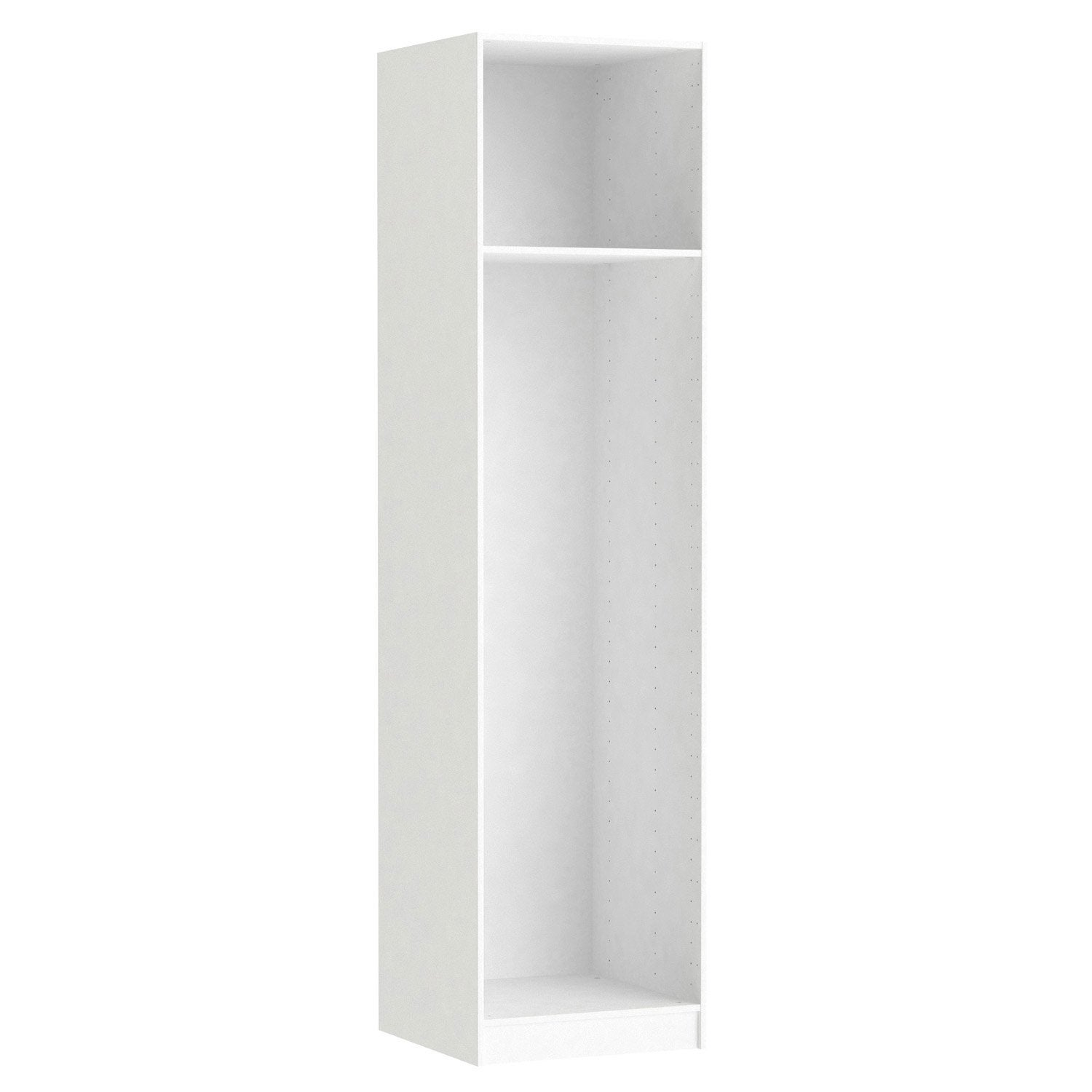 Caisson spaceo home 240 x 60 x 60 cm blanc leroy merlin for Porte 60 x 60