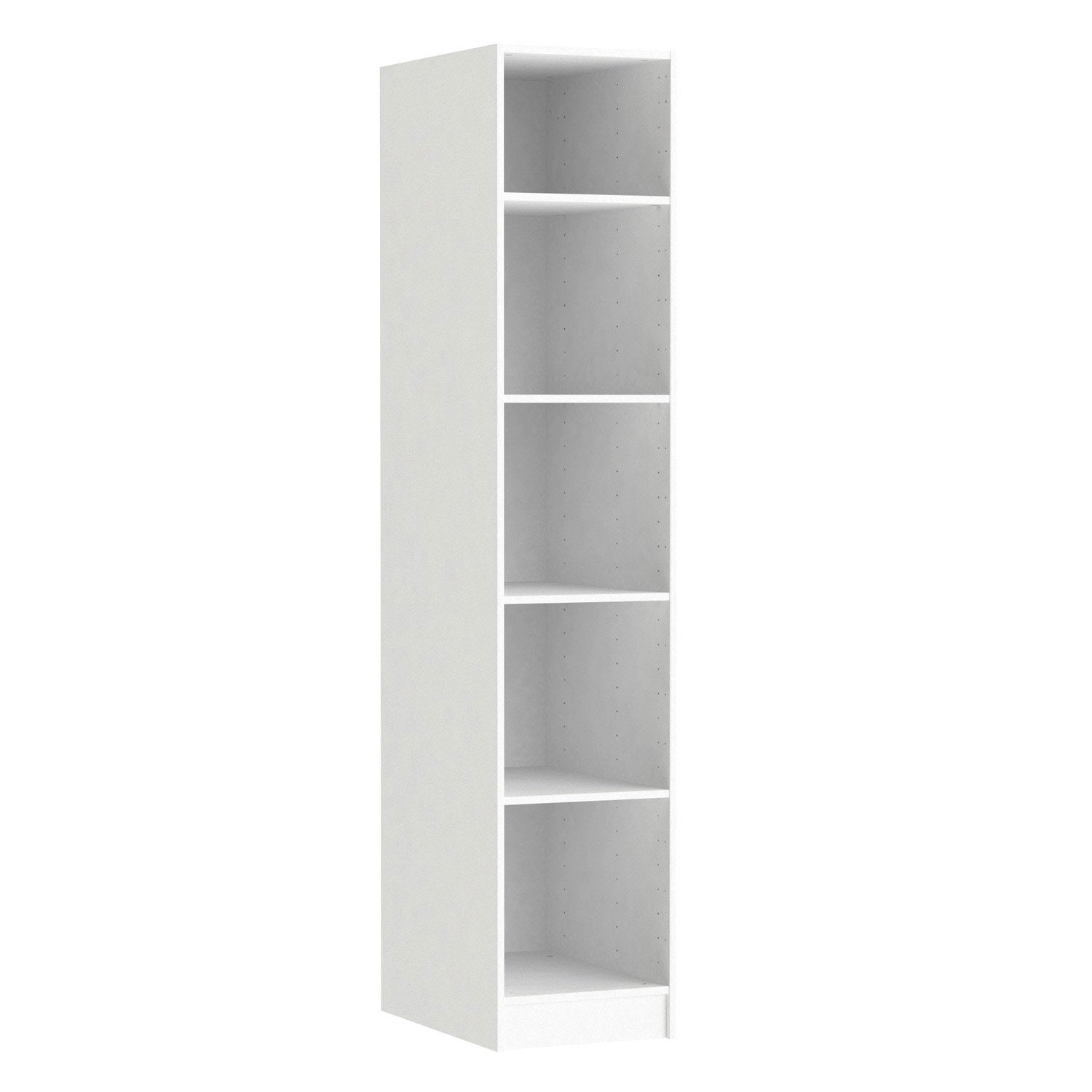 Caisson spaceo home 200 x 40 x 60 cm blanc leroy merlin for Porte 60 cm de large