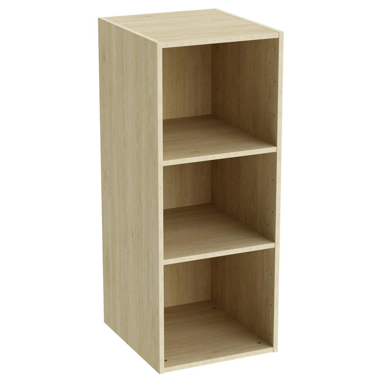 caisson spaceo home 100 x 40 x 45 cm effet ch ne naturel leroy merlin. Black Bedroom Furniture Sets. Home Design Ideas