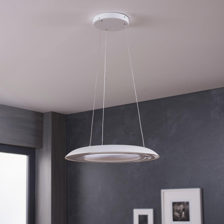 suspension led int gr e fluck synth tique blanc 8 x 2 5 w philips leroy merlin. Black Bedroom Furniture Sets. Home Design Ideas
