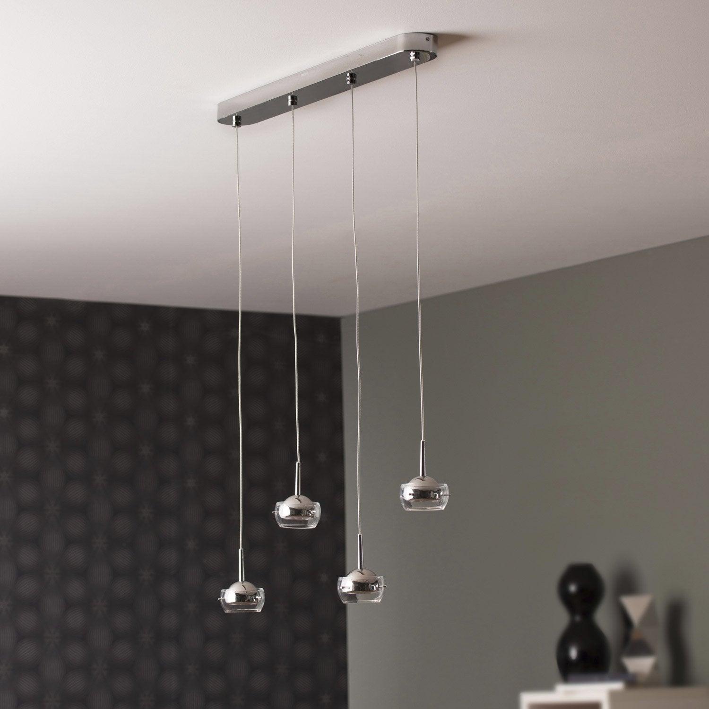 suspension led int gr e moderne cypress m tal chrom 4 x 4 w philips leroy merlin. Black Bedroom Furniture Sets. Home Design Ideas