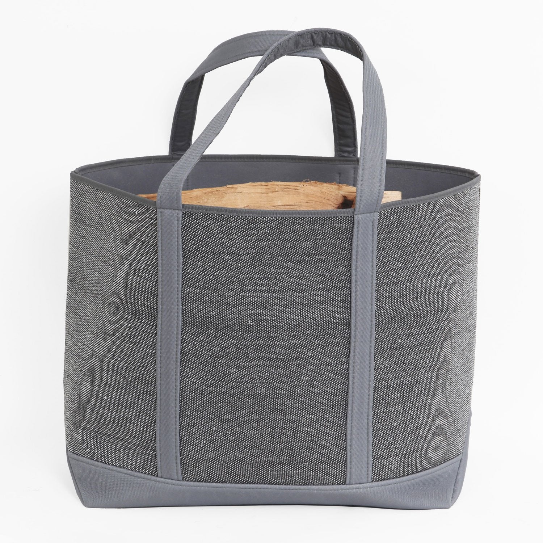 sac b ches tissu gris fonc lemarquier belhara b ches. Black Bedroom Furniture Sets. Home Design Ideas