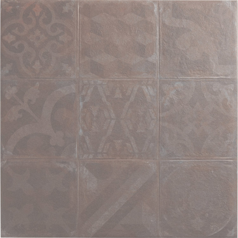 carrelage sol et mur perle effet beton cosy l 47 2 x l 47 2 cm