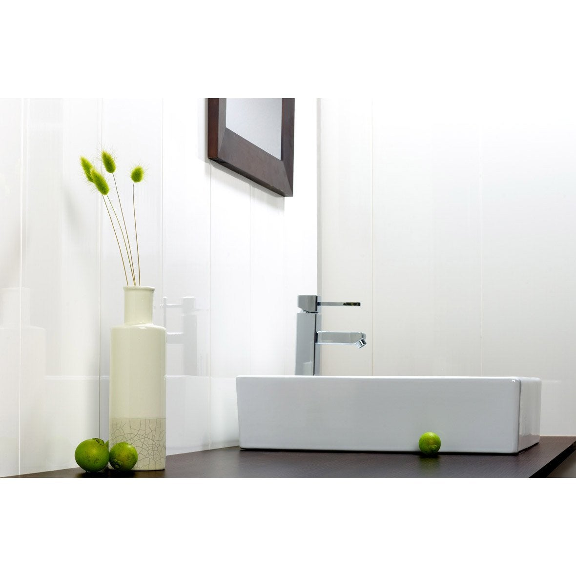 lambris pvc blanc artens x cm x mm leroy merlin. Black Bedroom Furniture Sets. Home Design Ideas
