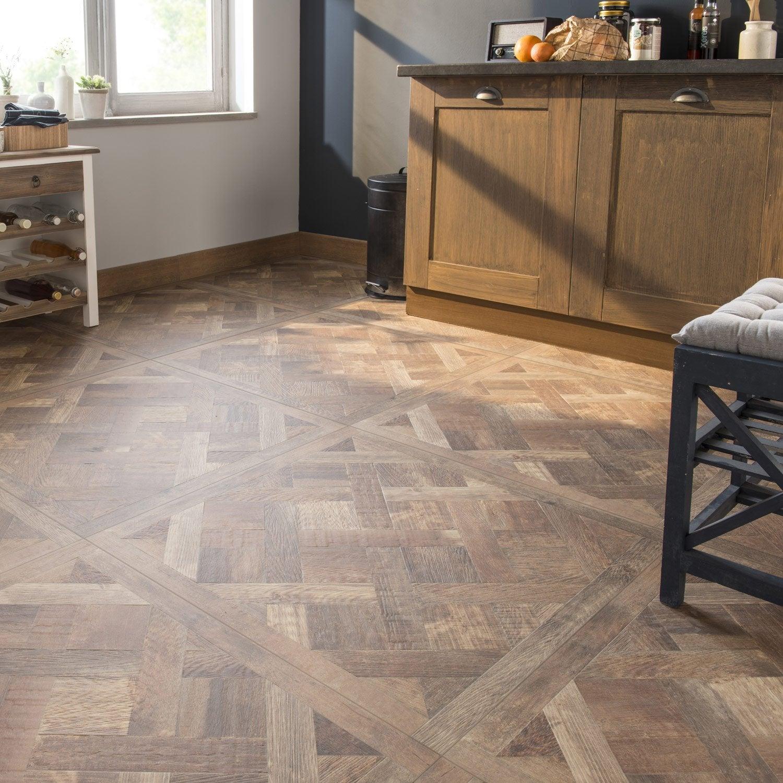 Carrelage sol et mur effet ch ne fonc effet bois chambord x cm l - Leroy merlin carrelage imitation bois ...