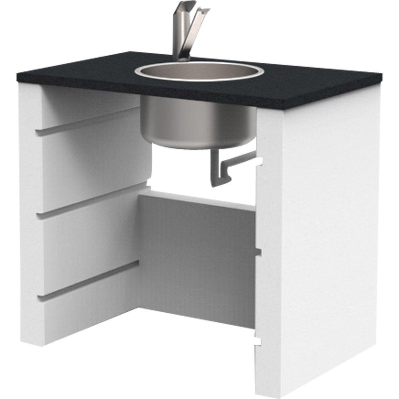 evier en pierre reconstitu e blanc point eau isabelle l. Black Bedroom Furniture Sets. Home Design Ideas