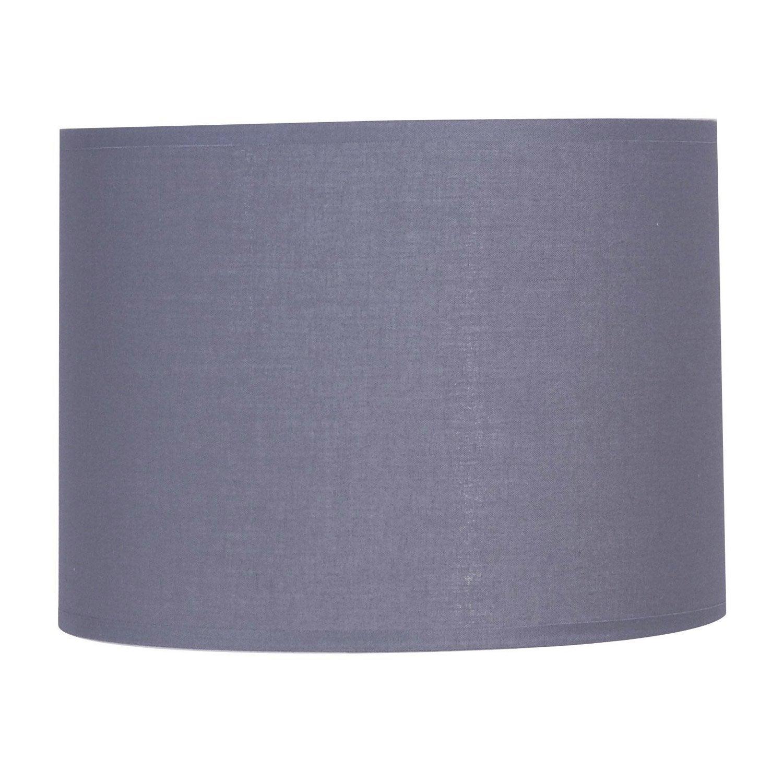 Lampe Bois Leroy Merlin : Abat-jour Tube, 15 cm, toiline, gris galet n?3 INSPIRE Leroy Merlin