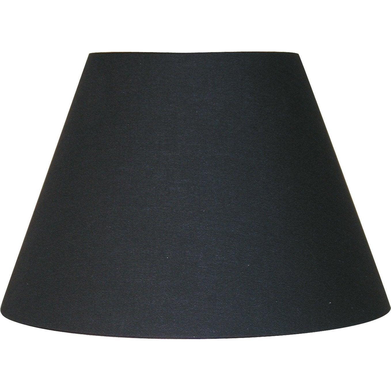 Abat jour sweet 22 cm coton noir noir n 0 inspire leroy merlin - Abat jour cm ...