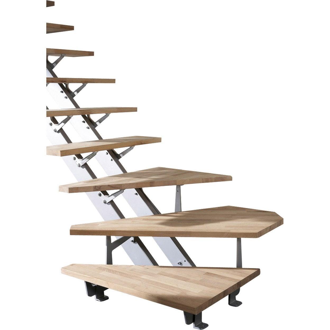 Escalier quart tournant suspendu marche en verre structure - Escalier suspendu leroy merlin ...