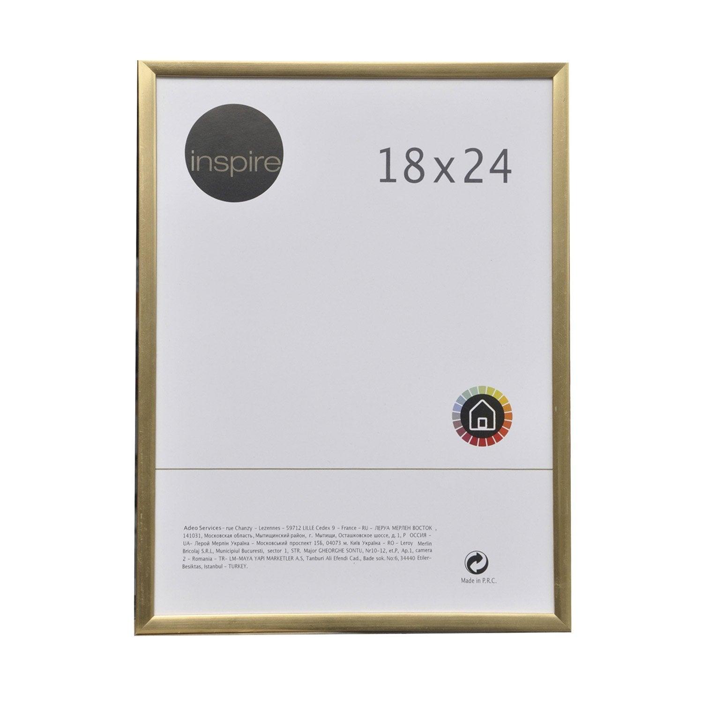 cadre pvc inspire 18 x 24 cm bleu leroy merlin. Black Bedroom Furniture Sets. Home Design Ideas