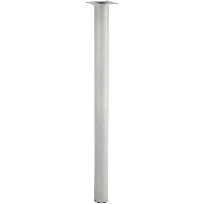 Lot de 4 pieds de table cylindrique fixes m tal epoxy gris - Epoxi leroy merlin ...