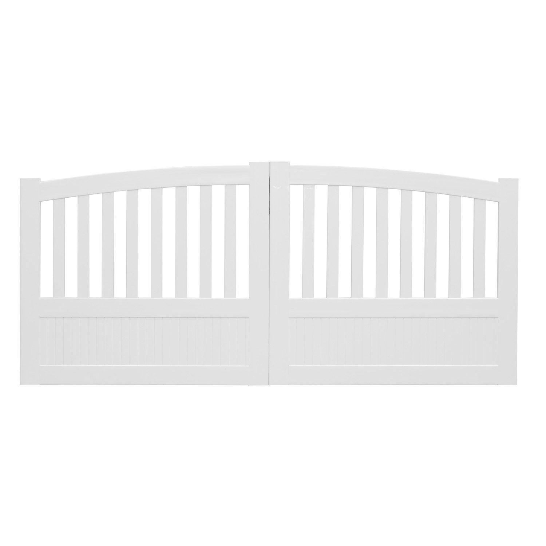 portail battant pvc etrelles blanc naterial l cm x h cm leroy merlin with portail pvc blanc. Black Bedroom Furniture Sets. Home Design Ideas