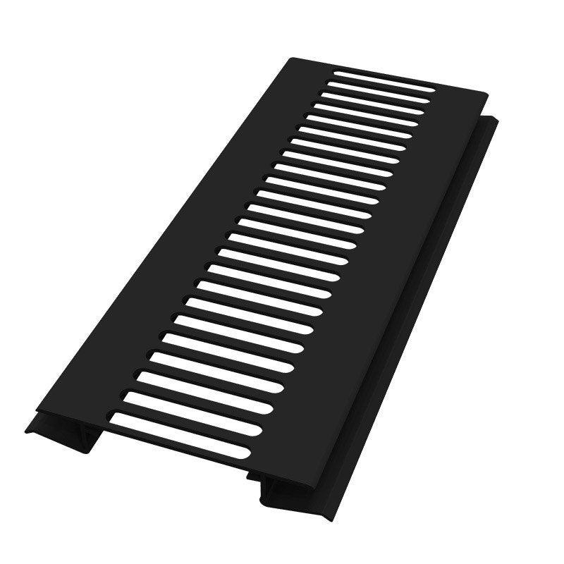 grille d 39 a ration pvc noir 3 m leroy merlin. Black Bedroom Furniture Sets. Home Design Ideas